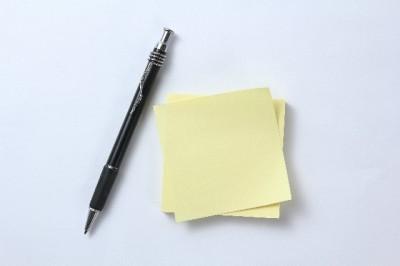 ペンと付箋